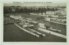 Click here to enlarge the image Flotilla de submarinos en Cartagena. 1926